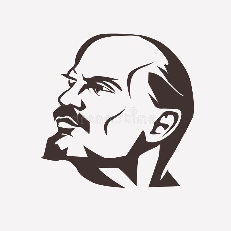 Stylizowany wektorowy portret Vladimir Lenin