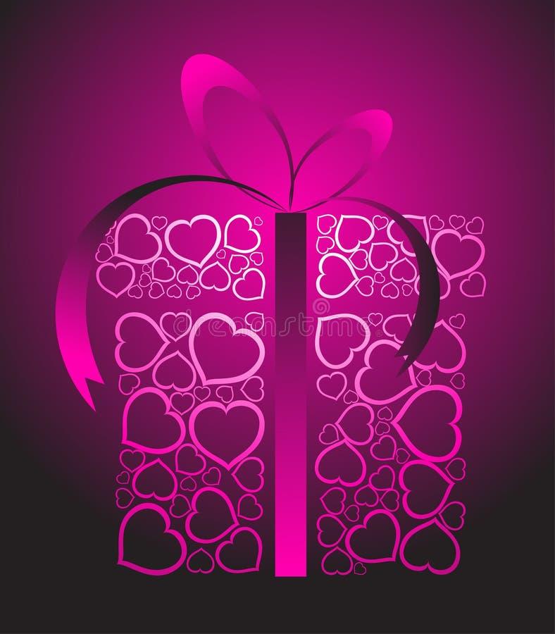 stylizująca miłości pudełkowata teraźniejszość royalty ilustracja