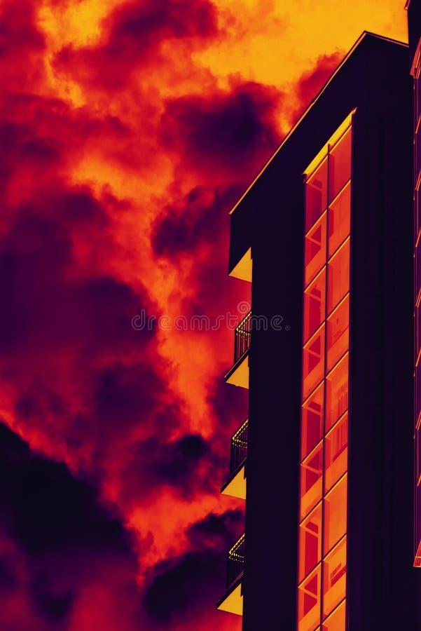 stylizujący ogienia TARGET1845_1_ dym fotografia royalty free