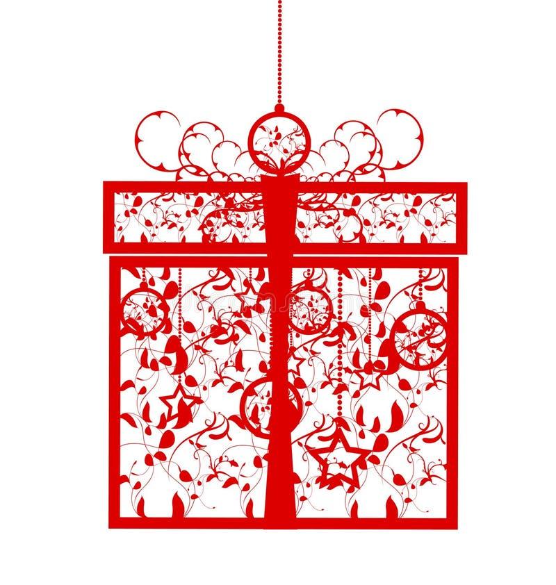 stylizujący pudełkowaty prezent ilustracji