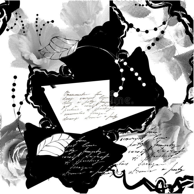 stylizujący tła grunge ilustracja wektor
