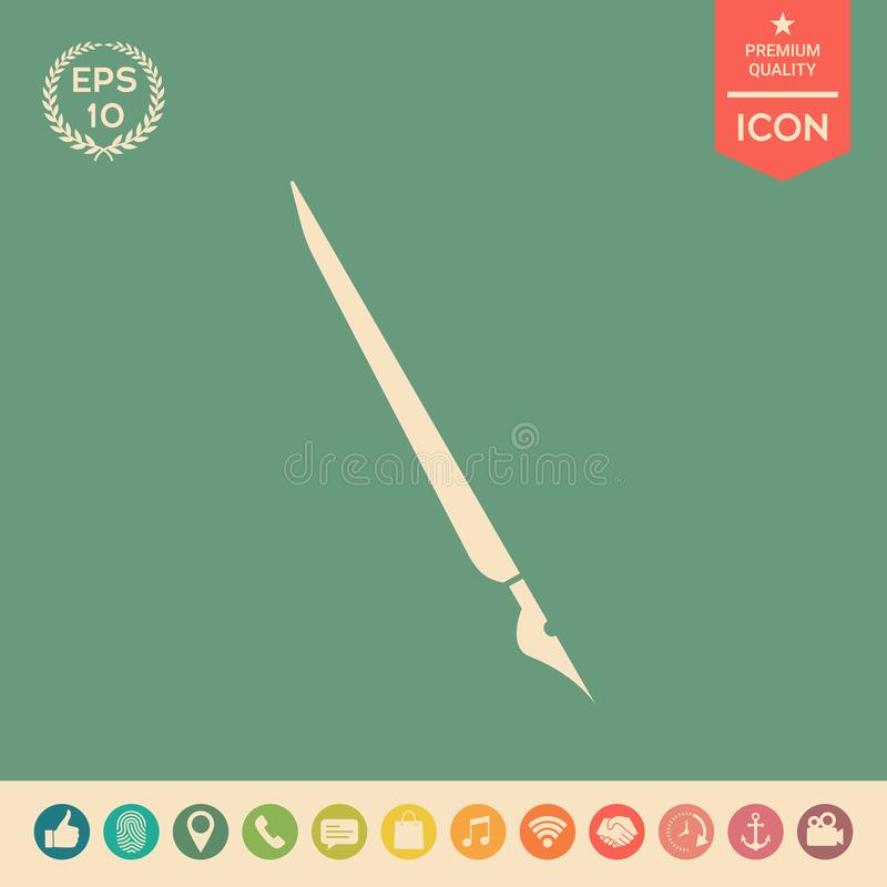 Stylo de cannette, icône de stylo-plume illustration de vecteur