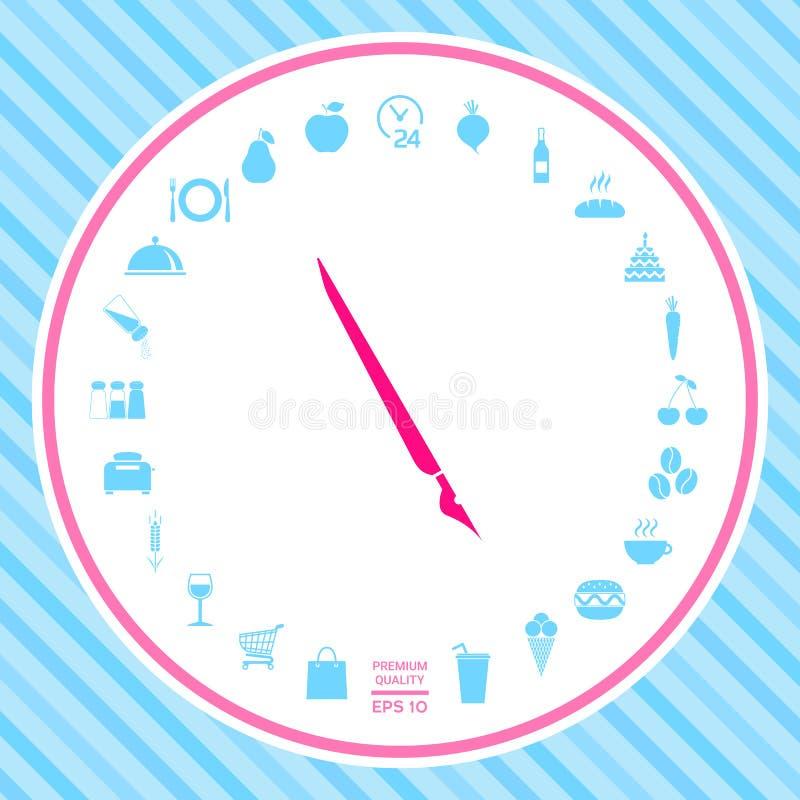 Stylo de cannette, icône de stylo-plume illustration libre de droits