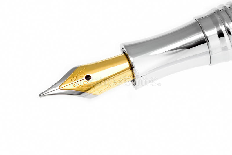 Stylo-plume d'or photographie stock
