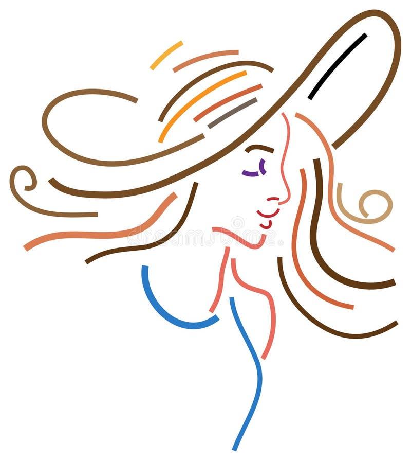 Stylowa dama ilustracji