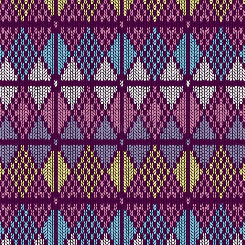 Stylowy bezszwowy trykotowy wzór ilustracji