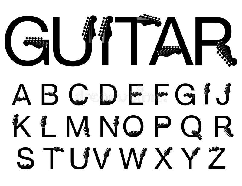 stylowy gitary typeface ilustracji