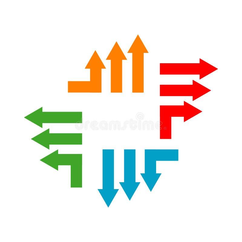 Stylowy, rozwijający się biznes Szablon ikony wektorowej konstruktora logo Abstract Arrow ilustracji