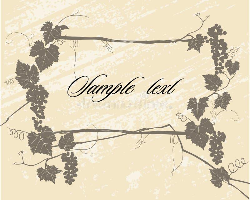 stylowy winograd ilustracja wektor