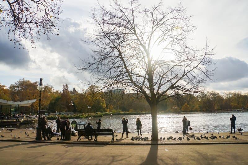 Stylu życia pojęcie rodzinny czas w wakacjach przy Hyde parkiem Londyn fotografia royalty free