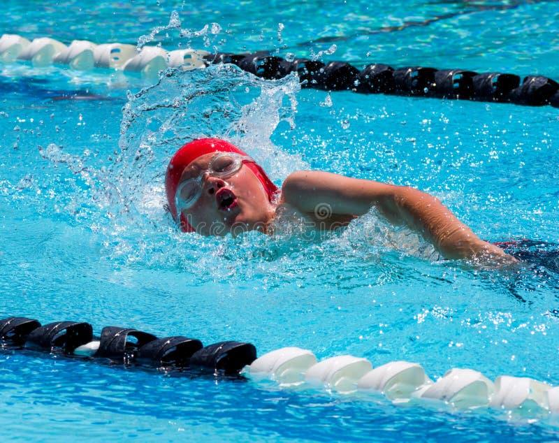 Stylu wolnego pływanie obrazy royalty free
