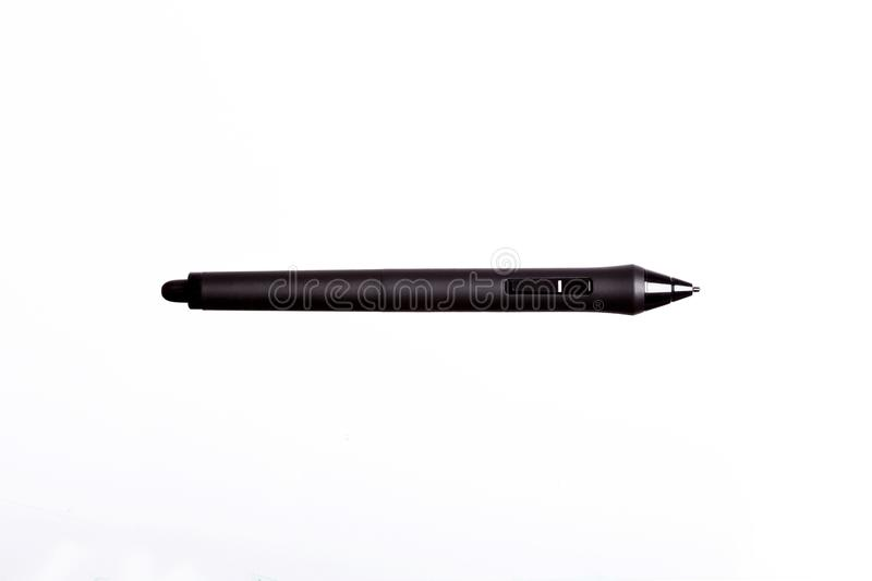Stylus pen for touchscreen tablet isolated on white background. High resolution photo royalty free stock photography