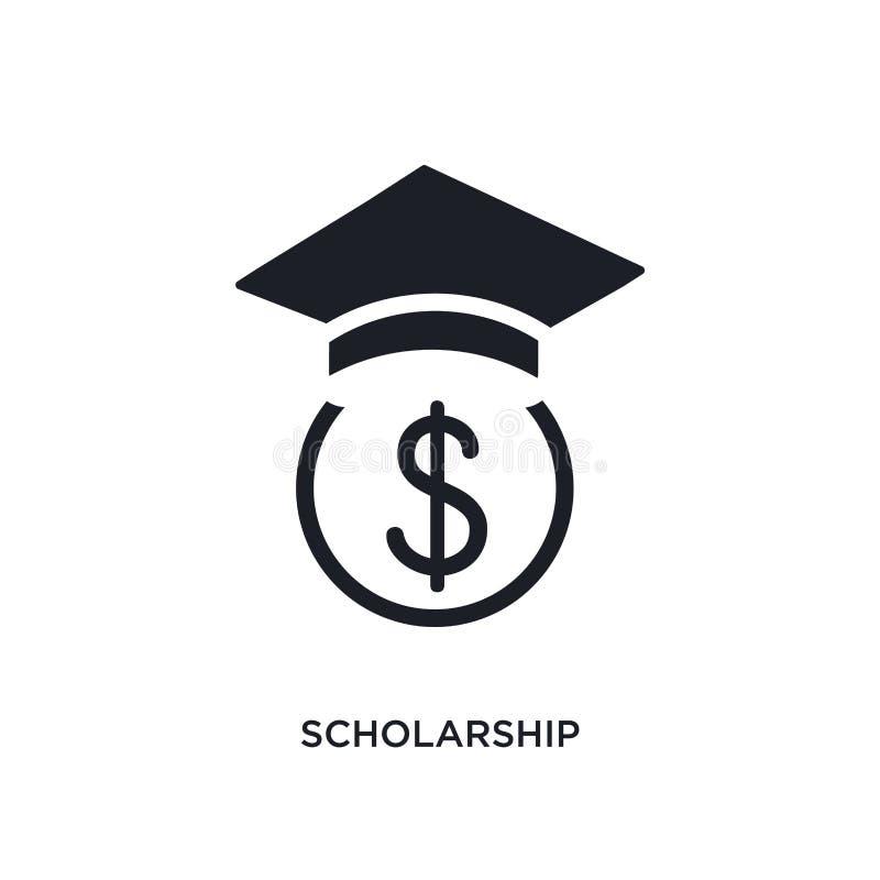 stypendium odosobniona ikona prosta element ilustracja od nauczania online i edukacji pojęcia ikon stypendialny editable logo zna royalty ilustracja