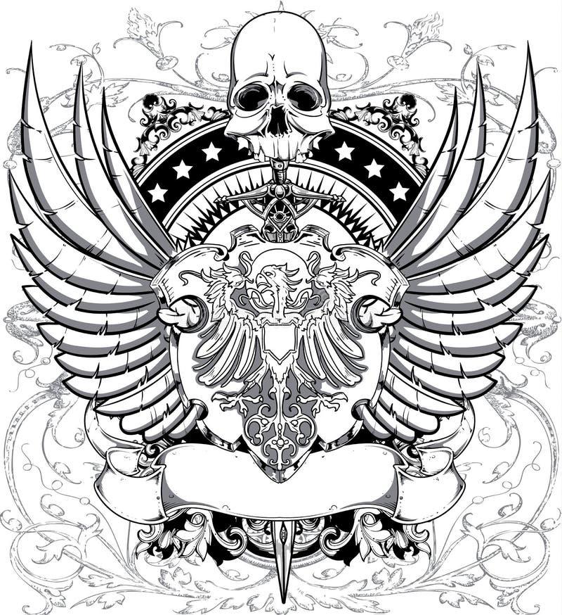 Styra av svärd stock illustrationer