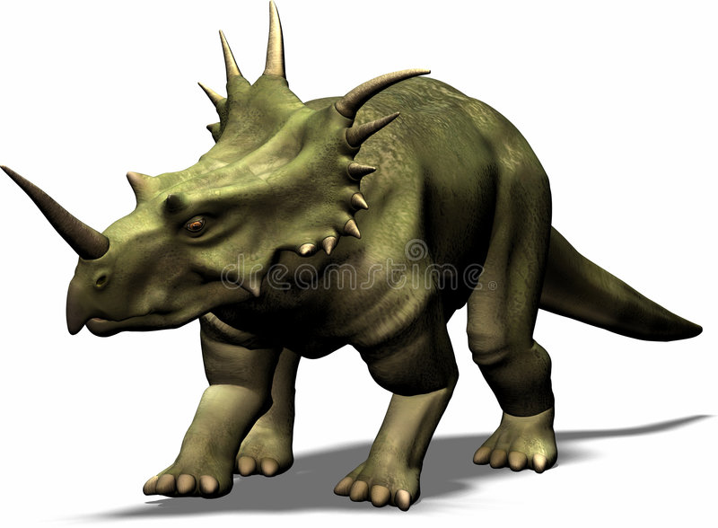 Download Styracosaurus stock illustration. Image of render, chalk - 1710191
