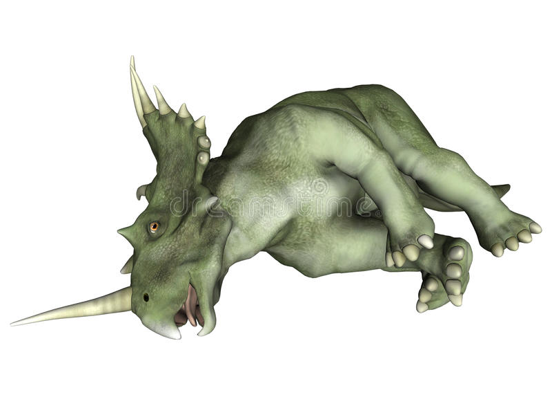 Styracosaurus ferido do dinossauro ilustração do vetor