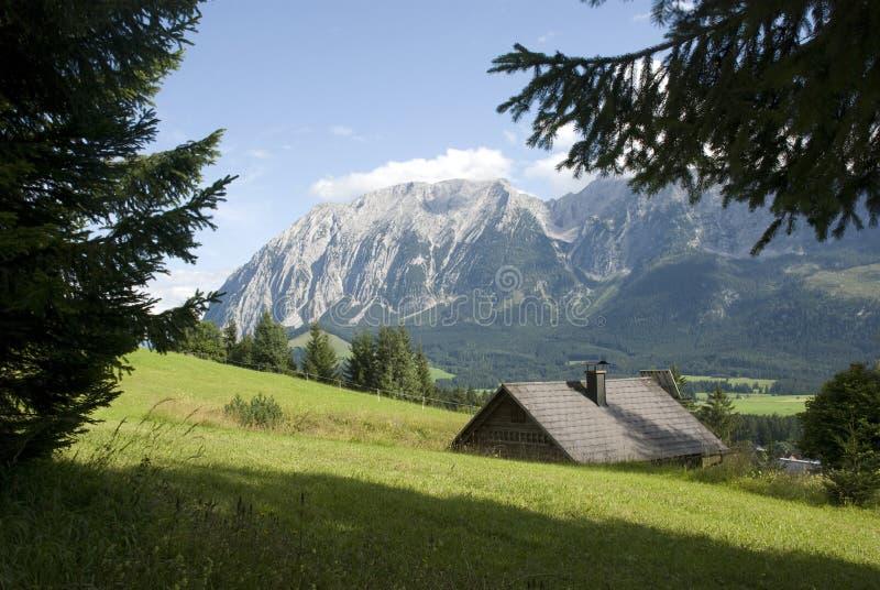 Styria - tauplitz. Landscape in tauplitz, an alpine region in styria, austria stock image