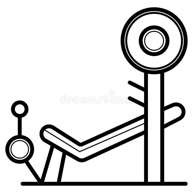 Styrka- och bodybuildingutbildningsutrustning vektor illustrationer