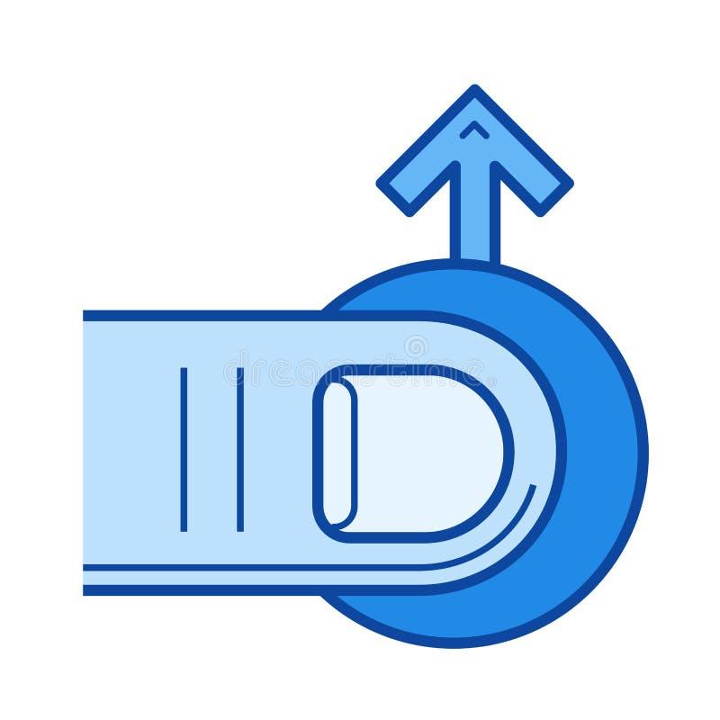 Styrkanavigeringlinje symbol stock illustrationer