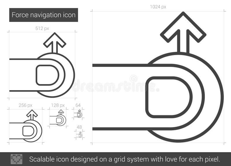 Styrkanavigeringlinje symbol royaltyfri illustrationer
