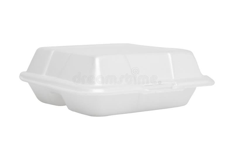 Styrofoam κιβώτιο στο άσπρο υπόβαθρο απεικόνιση αποθεμάτων