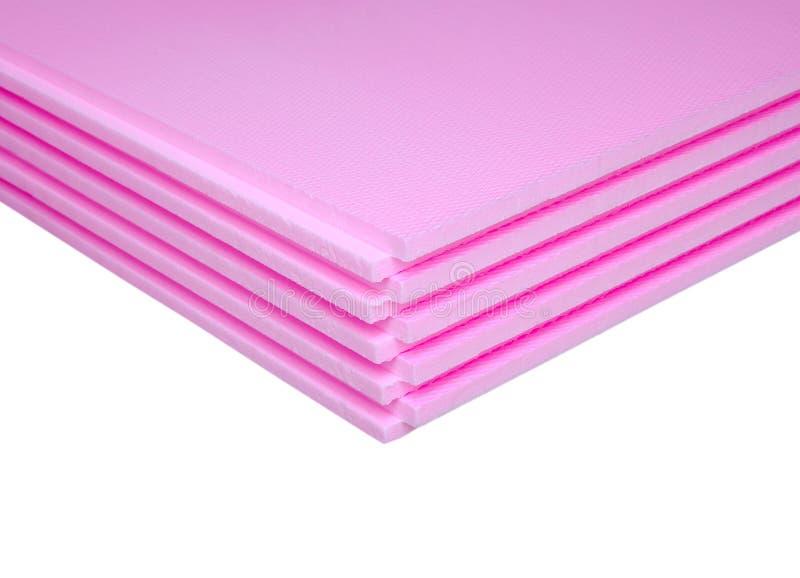 Styrofoam bordlägger royaltyfria bilder