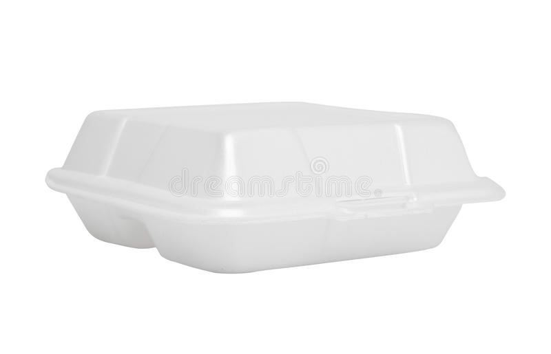 Styrofoam box on white background. Foam stock illustration