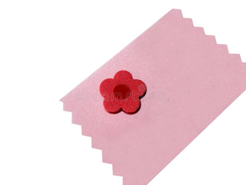 styrofoam för blommaanmärkningspink royaltyfri fotografi