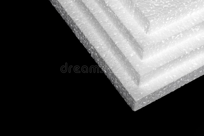 Styrofoam Fogli di fabbricazione immagine stock