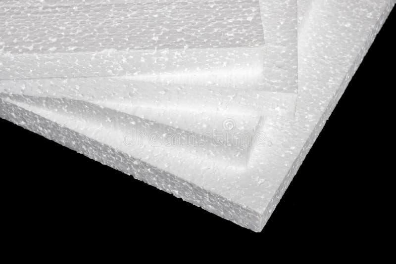 Styrofoam Fogli di fabbricazione fotografia stock libera da diritti