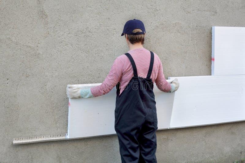 Styrofoam izolacja obraz royalty free
