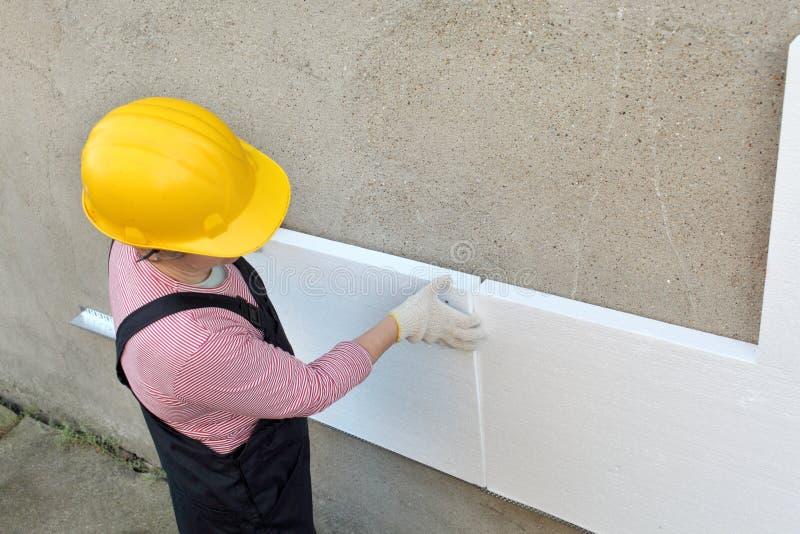 Styrofoam izolacja zdjęcie royalty free