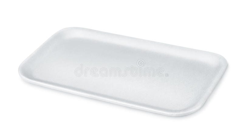 Styrofoam jedzenia taca zdjęcie stock
