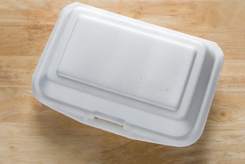 Styrofoam karmowy zbiornik Piankowy Pudełkowaty przyczyna nowotwór i zdjęcie stock