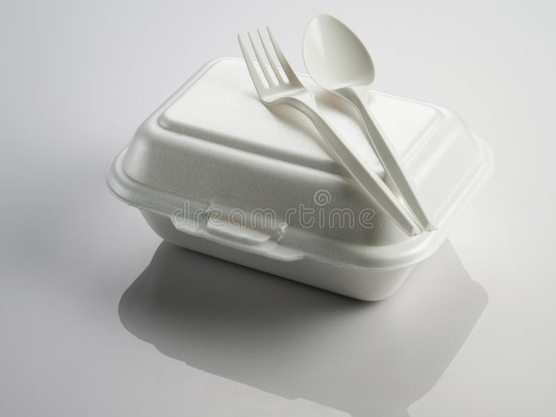 Styrofoam lunchu pudełko obrazy stock