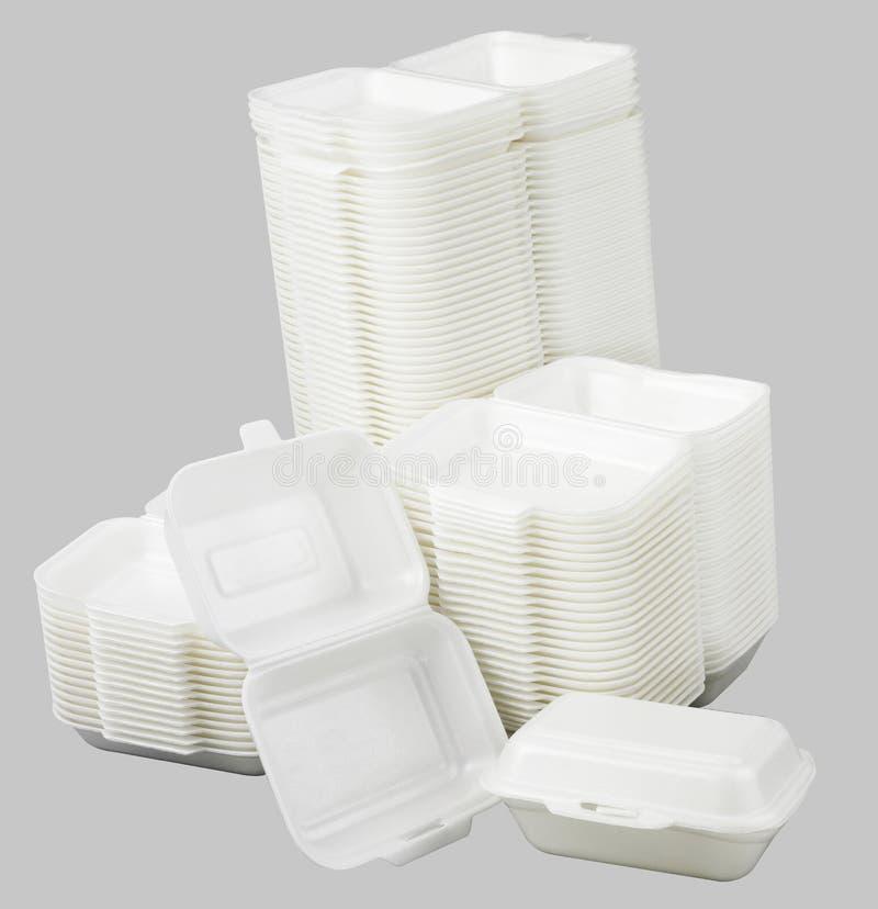 Styrofoam meal box royalty free stock photos
