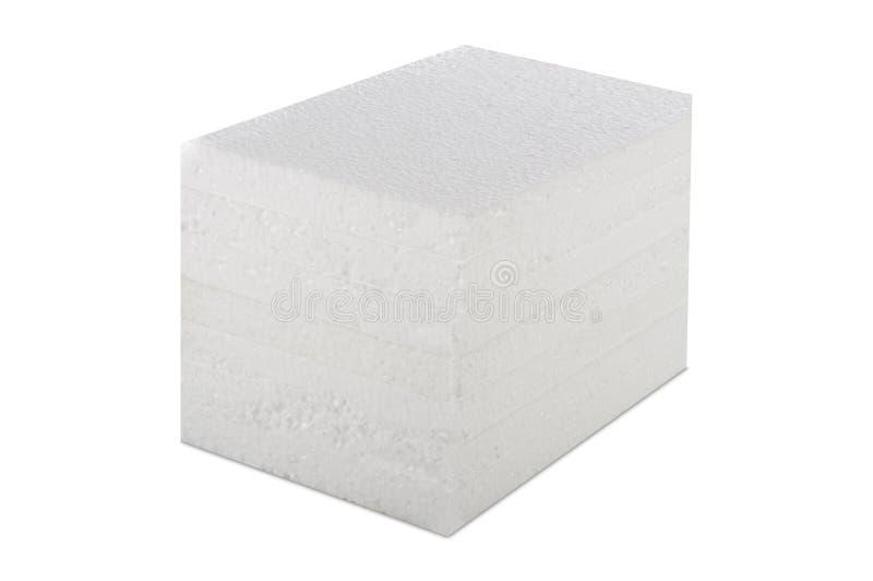 Styrofoam panel odizolowywający zdjęcie royalty free