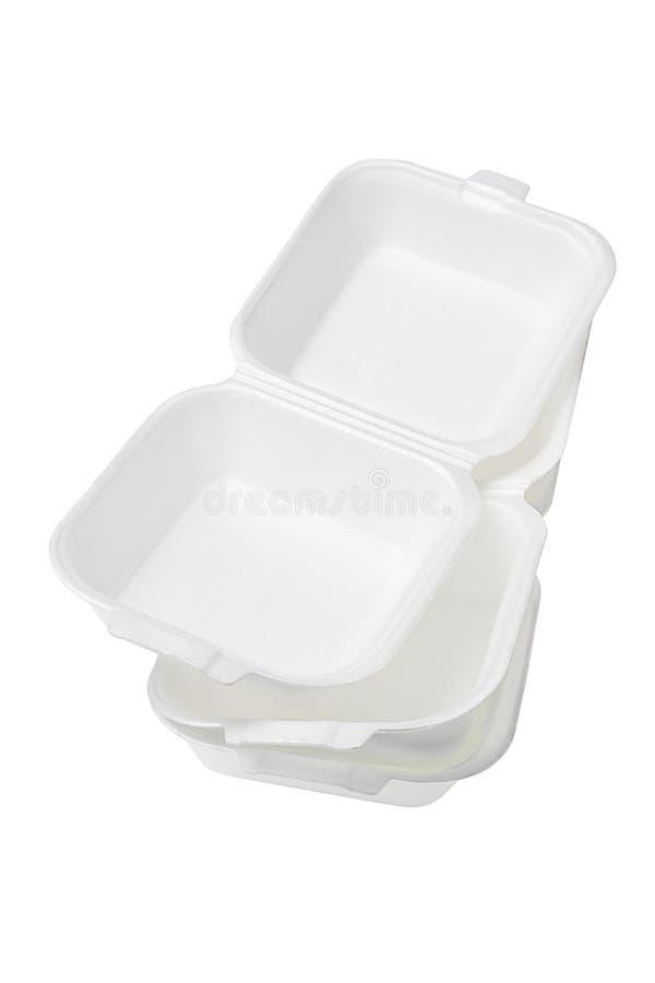 Styrofoam Pudełka zdjęcie stock