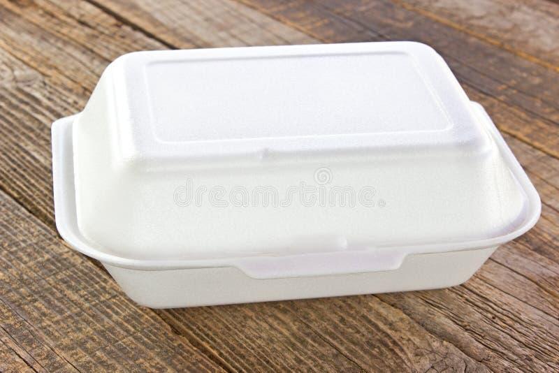 Styrofoam pudełko dla jedzenia zdjęcie stock