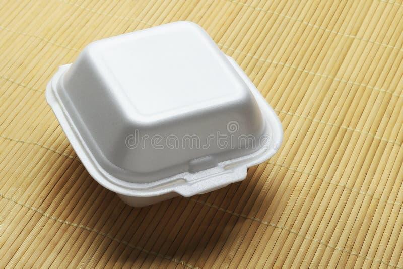 Styrofoam Takeaway Box stock image