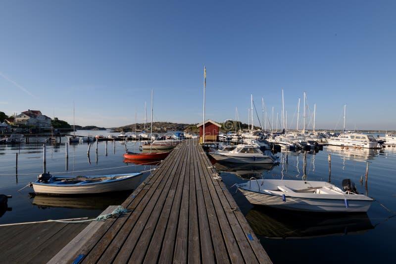Styrso小游艇船坞,瑞典 免版税库存图片