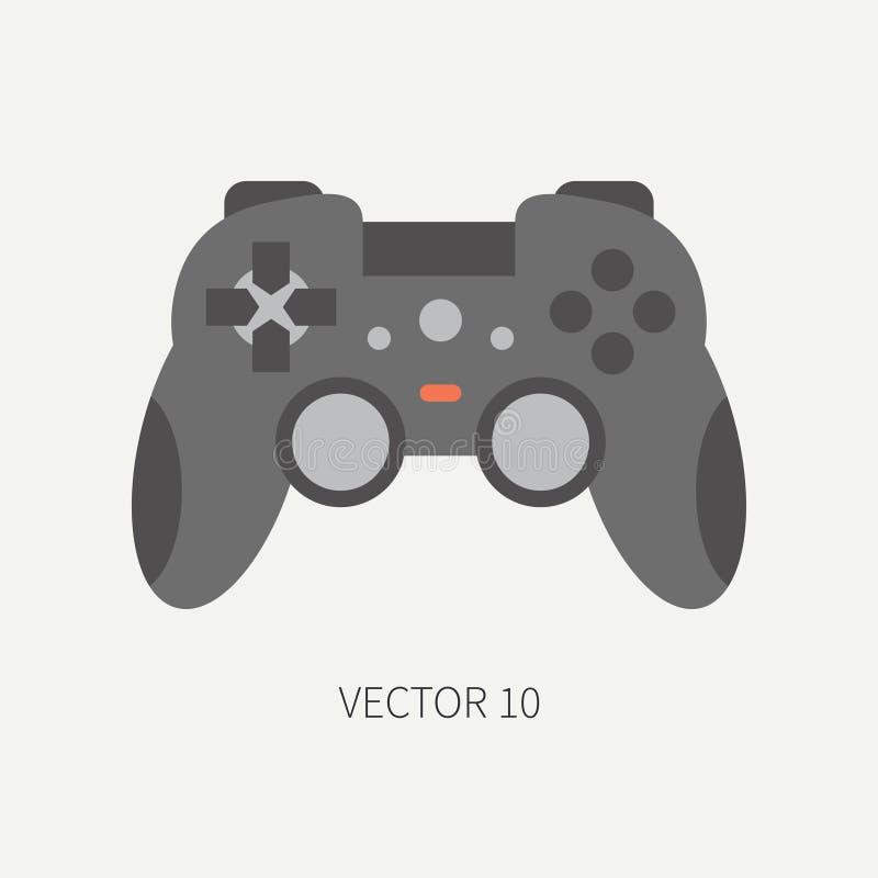 Styrspak för symbol för del för dator för vektor för slättlägenhetfärg cartoon Digital dobbel- och för skrivbord för PC för affär stock illustrationer