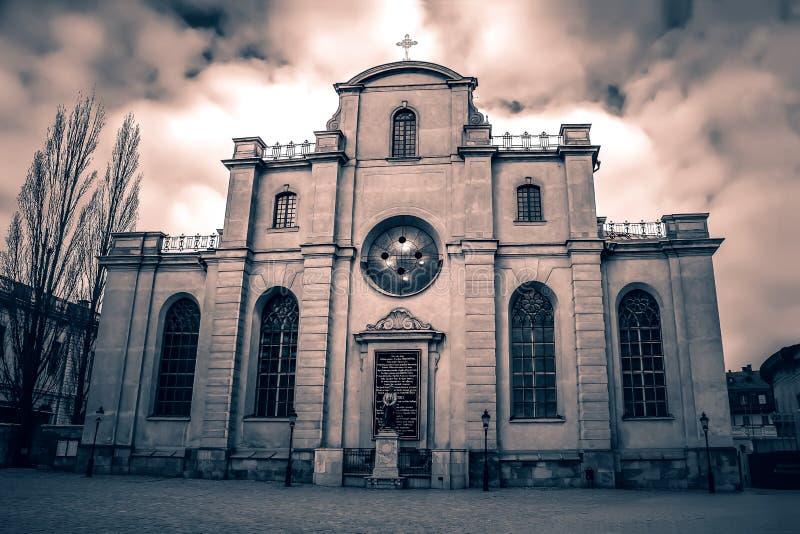 "SUÉCIA, †de ÉSTOCOLMO ""5 DE JANEIRO DE 2015: € de Storkyrkan ""a catedral de Éstocolmo fotografia de stock"