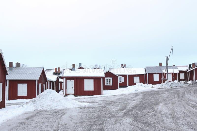 Suécia, cidade velha de LuleÃ¥, Gammelstad imagem de stock