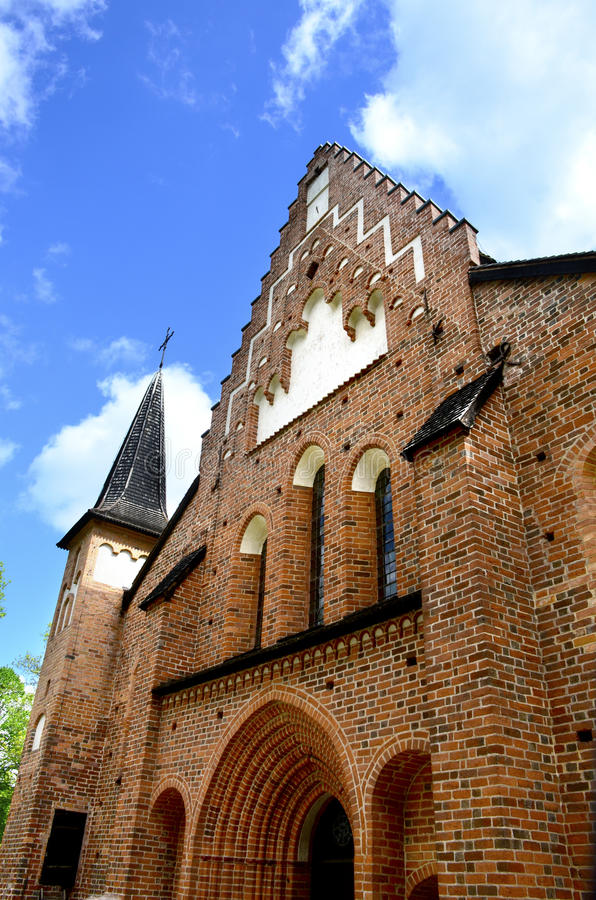 Suécia de Sigtuna da igreja de St Mary fotografia de stock royalty free