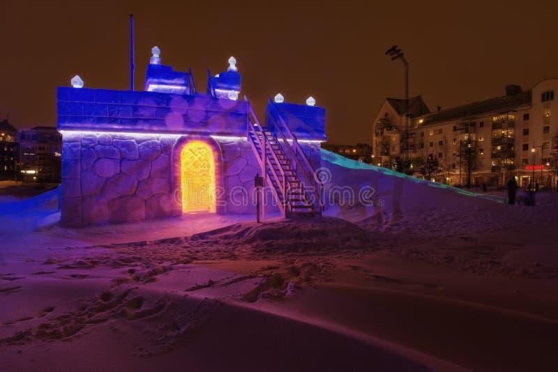 Suécia do castelo do trenó do gelo imagens de stock royalty free