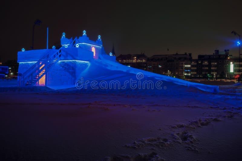 Suécia do castelo do trenó do gelo foto de stock