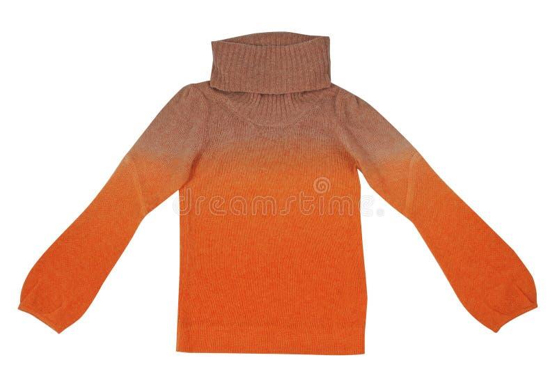 Suéter anaranjado imagen de archivo libre de regalías