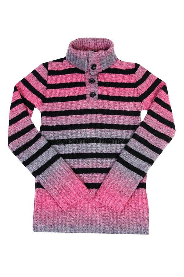 Suéter caliente del invierno en un blanco. fotografía de archivo libre de regalías