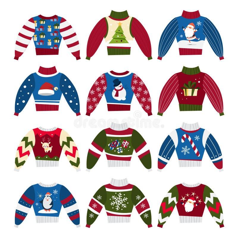 Suéter caliente lindo de la Navidad para el sistema del invierno libre illustration